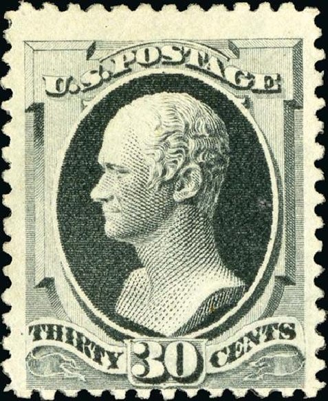 Cost of US Stamps Scott Catalog #201: 30c 1880 Hamilton Special Printing. Spink Shreves Galleries, Jan 2015, Sale 150, Lot 109