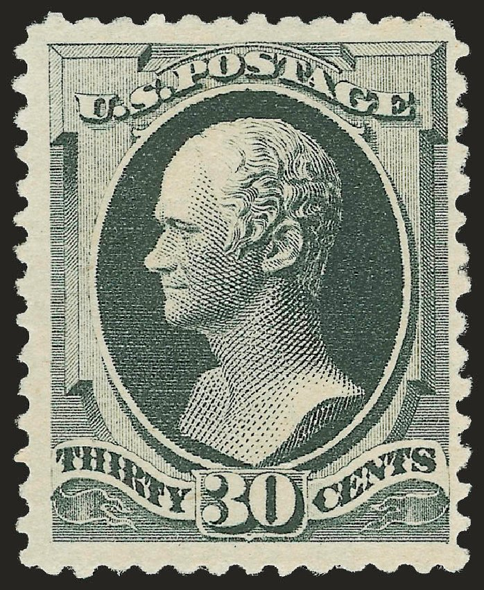 Value of US Stamps Scott 201 - 30c 1880 Hamilton Special Printing. Robert Siegel Auction Galleries, Apr 2009, Sale 972, Lot 3200