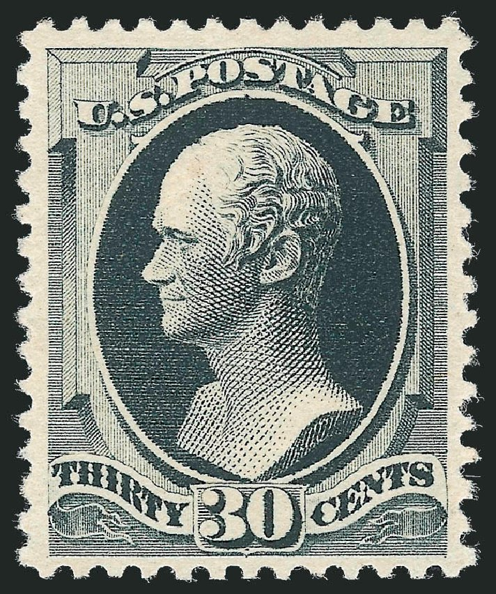 US Stamp Value Scott Catalogue 201 - 30c 1880 Hamilton Special Printing. Robert Siegel Auction Galleries, Dec 2012, Sale 1036, Lot 134