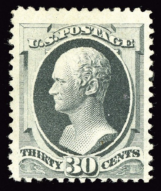 US Stamps Value Scott Catalog # 201 - 1880 30c Hamilton Special Printing. Spink Shreves Galleries, May 2014, Sale 148, Lot 185