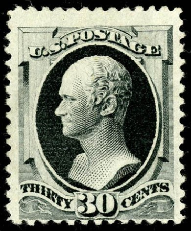 US Stamps Prices Scott Cat. 201 - 30c 1880 Hamilton Special Printing. Matthew Bennett International, May 2008, Sale 327, Lot 202