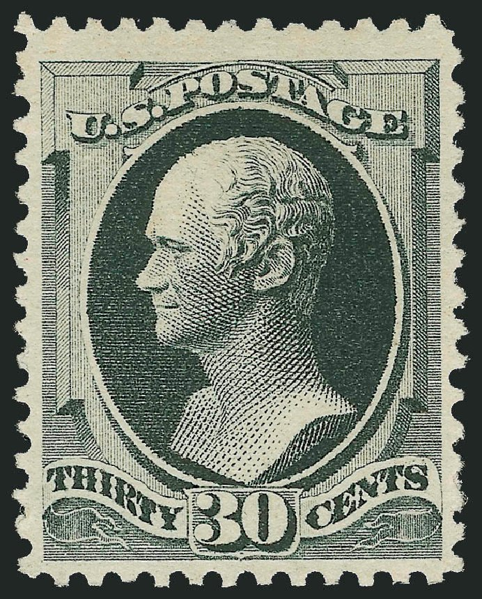 Cost of US Stamp Scott Cat. 201: 1880 30c Hamilton Special Printing. Robert Siegel Auction Galleries, Jun 2011, Sale 1010, Lot 73