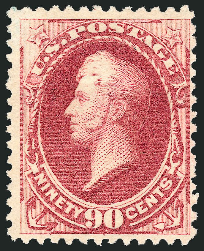 US Stamps Values Scott Cat. # 202 - 1880 90c Perry Special Printing. Robert Siegel Auction Galleries, Oct 2010, Sale 997, Lot 5617