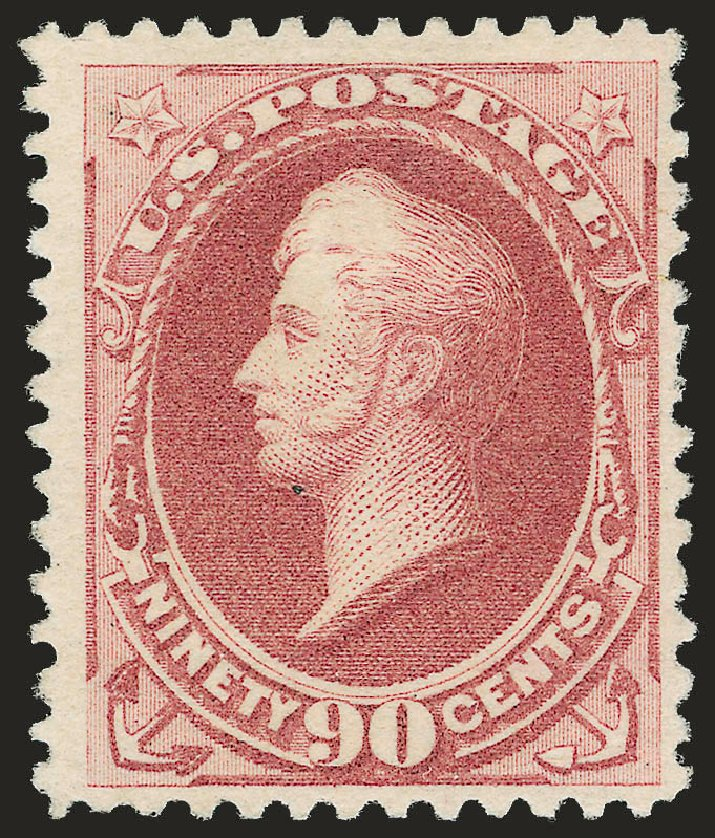 Prices of US Stamp Scott Catalogue 202: 90c 1880 Perry Special Printing. Robert Siegel Auction Galleries, Apr 2009, Sale 972, Lot 3201