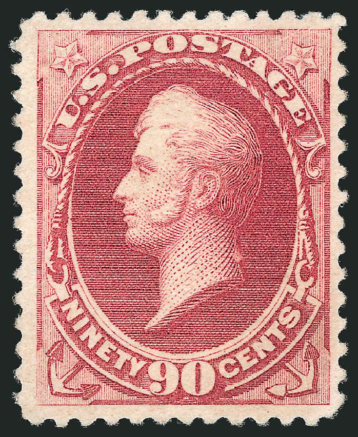 Prices of US Stamps Scott Catalog 202: 1880 90c Perry Special Printing. Robert Siegel Auction Galleries, Dec 2012, Sale 1036, Lot 135