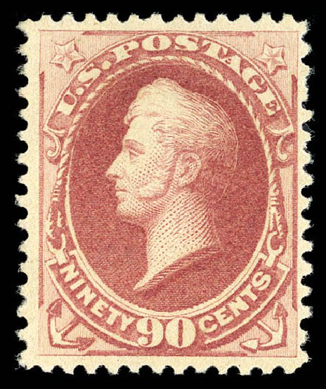 Price of US Stamps Scott Catalogue 202: 1880 90c Perry Special Printing. Matthew Bennett International, Sep 2012, Sale 345, Lot 236