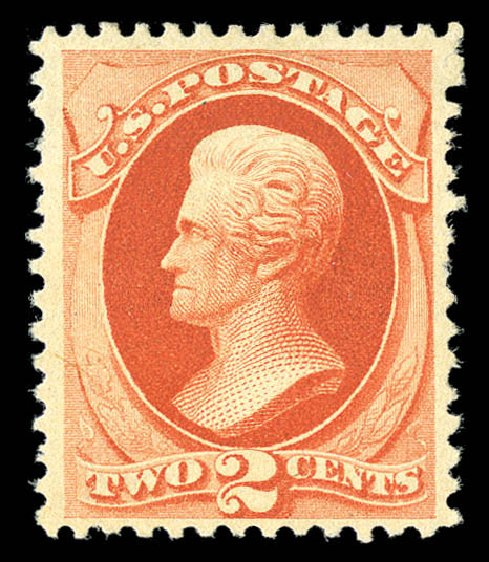 US Stamp Value Scott # 203: 1880 2c Jackson Special Printing. Matthew Bennett International, Sep 2012, Sale 345, Lot 237