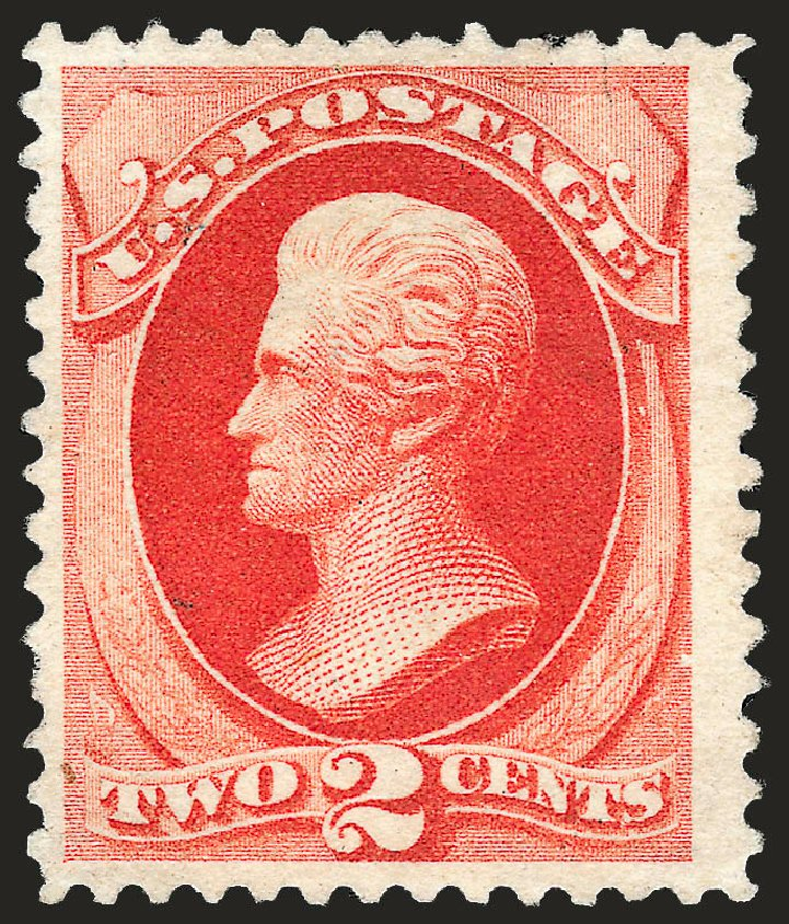 US Stamps Prices Scott Cat. 203 - 1880 2c Jackson Special Printing. Robert Siegel Auction Galleries, Oct 2008, Sale 963, Lot 827