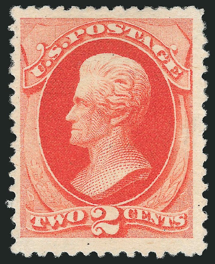 US Stamps Values Scott Catalogue 203: 1880 2c Jackson Special Printing. Robert Siegel Auction Galleries, Nov 2013, Sale 1057, Lot 788