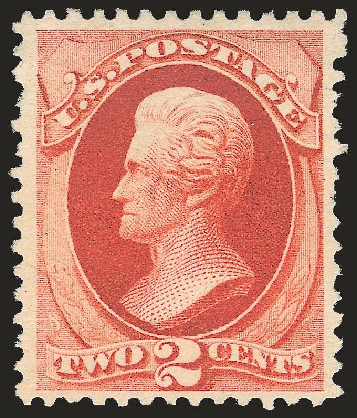 US Stamps Price Scott Cat. 203 - 1880 2c Jackson Special Printing. Robert Siegel Auction Galleries, Apr 2009, Sale 972, Lot 3202