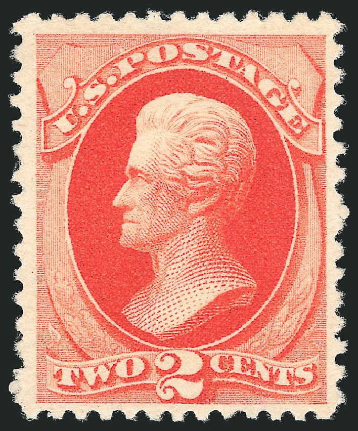 Value of US Stamp Scott Catalog # 203 - 2c 1880 Jackson Special Printing. Robert Siegel Auction Galleries, Dec 2012, Sale 1036, Lot 136