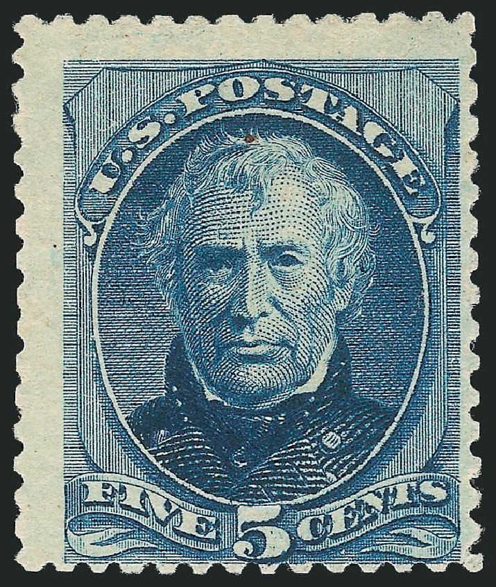 US Stamps Value Scott 204: 1880 5c Taylor Special Printing. Robert Siegel Auction Galleries, Nov 2013, Sale 1057, Lot 789