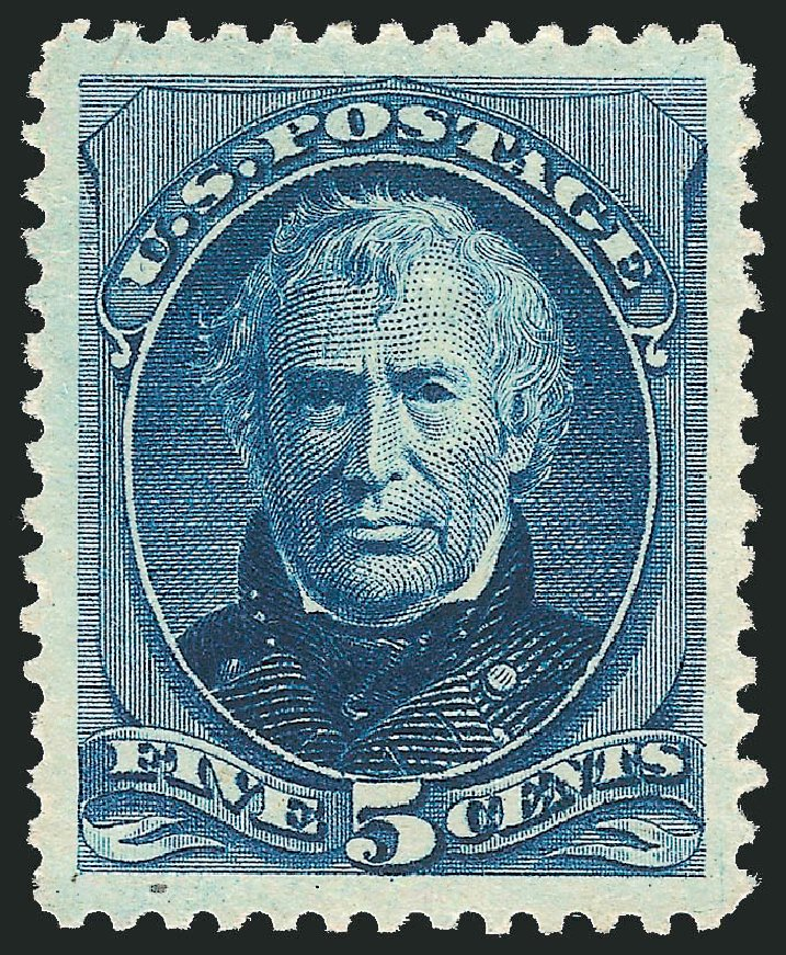 Cost of US Stamp Scott Catalog 204: 1880 5c Taylor Special Printing. Robert Siegel Auction Galleries, Jun 2012, Sale 1025, Lot 175