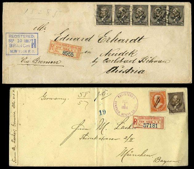 Values of US Stamp Scott Catalog 205: 5c 1882 Garfield. Harmer-Schau Auction Galleries, Aug 2015, Sale 106, Lot 1588