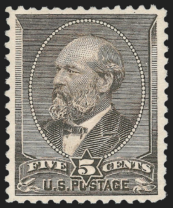 Price of US Stamps Scott 205C - 5c 1882 Garfield Special Printing. Robert Siegel Auction Galleries, Jul 2015, Sale 1107, Lot 289