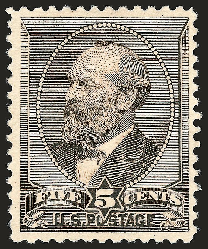 Prices of US Stamps Scott Catalog #205C - 5c 1882 Garfield Special Printing. Robert Siegel Auction Galleries, Oct 2008, Sale 963, Lot 829
