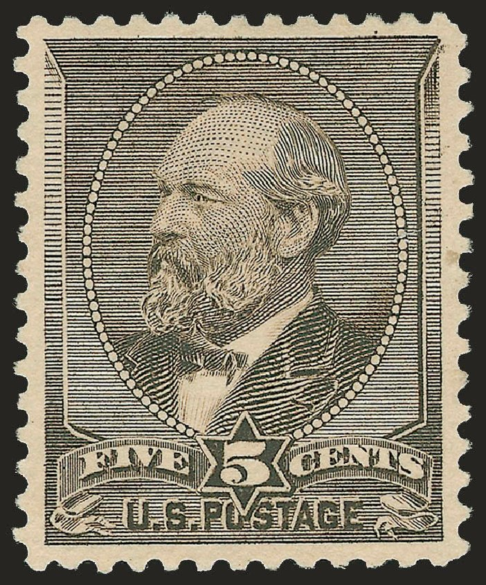 Costs of US Stamp Scott Cat. 205C - 5c 1882 Garfield Special Printing. Robert Siegel Auction Galleries, Apr 2009, Sale 972, Lot 3203
