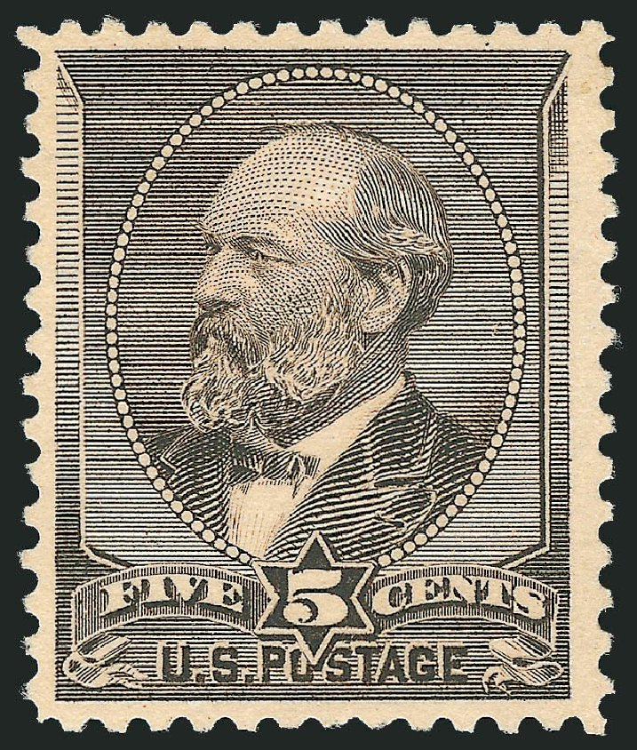Price of US Stamp Scott Catalogue #205C: 5c 1882 Garfield Special Printing. Robert Siegel Auction Galleries, Apr 2015, Sale 1096, Lot 356