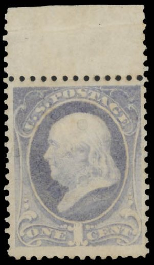 US Stamps Values Scott Cat. #206 - 1882 1c Franklin. Daniel Kelleher Auctions, Aug 2015, Sale 672, Lot 2448