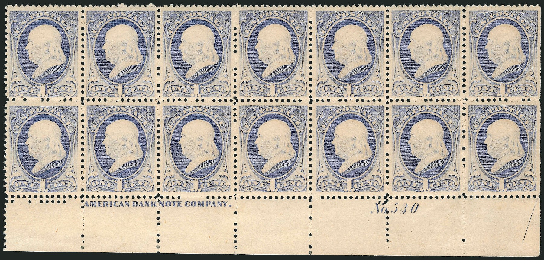 US Stamp Price Scott Cat. 206 - 1882 1c Franklin. Robert Siegel Auction Galleries, Apr 2015, Sale 1096, Lot 360