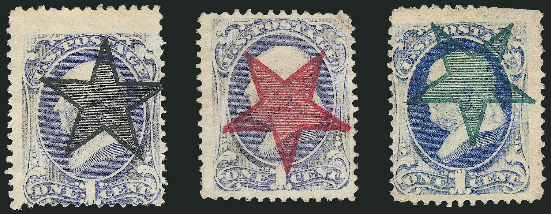 US Stamps Value Scott Cat. 206: 1c 1882 Franklin. Robert Siegel Auction Galleries, Jun 2015, Sale 1105, Lot 2620