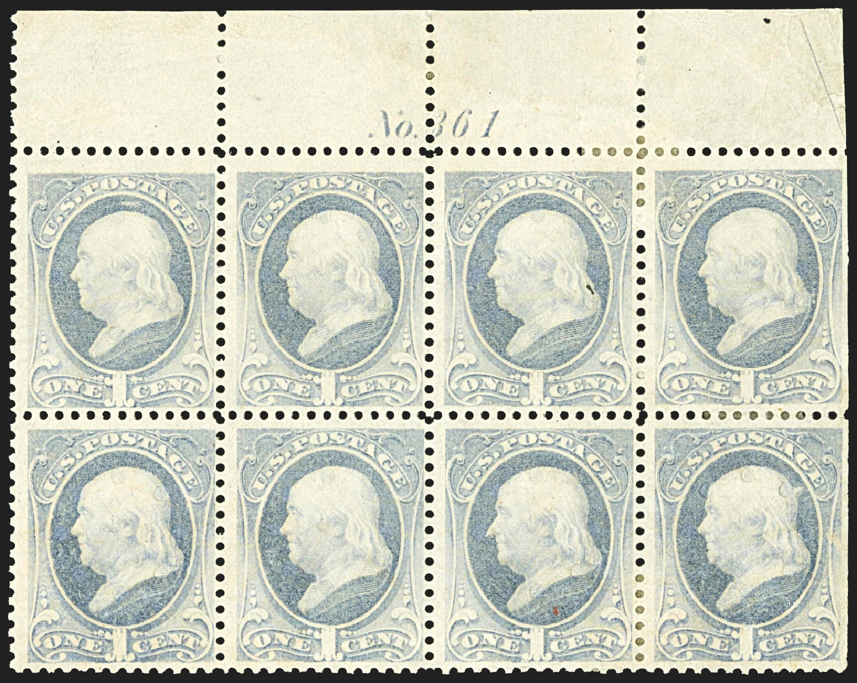 Costs of US Stamps Scott Catalog #206: 1882 1c Franklin. Robert Siegel Auction Galleries, Jul 2015, Sale 1107, Lot 290