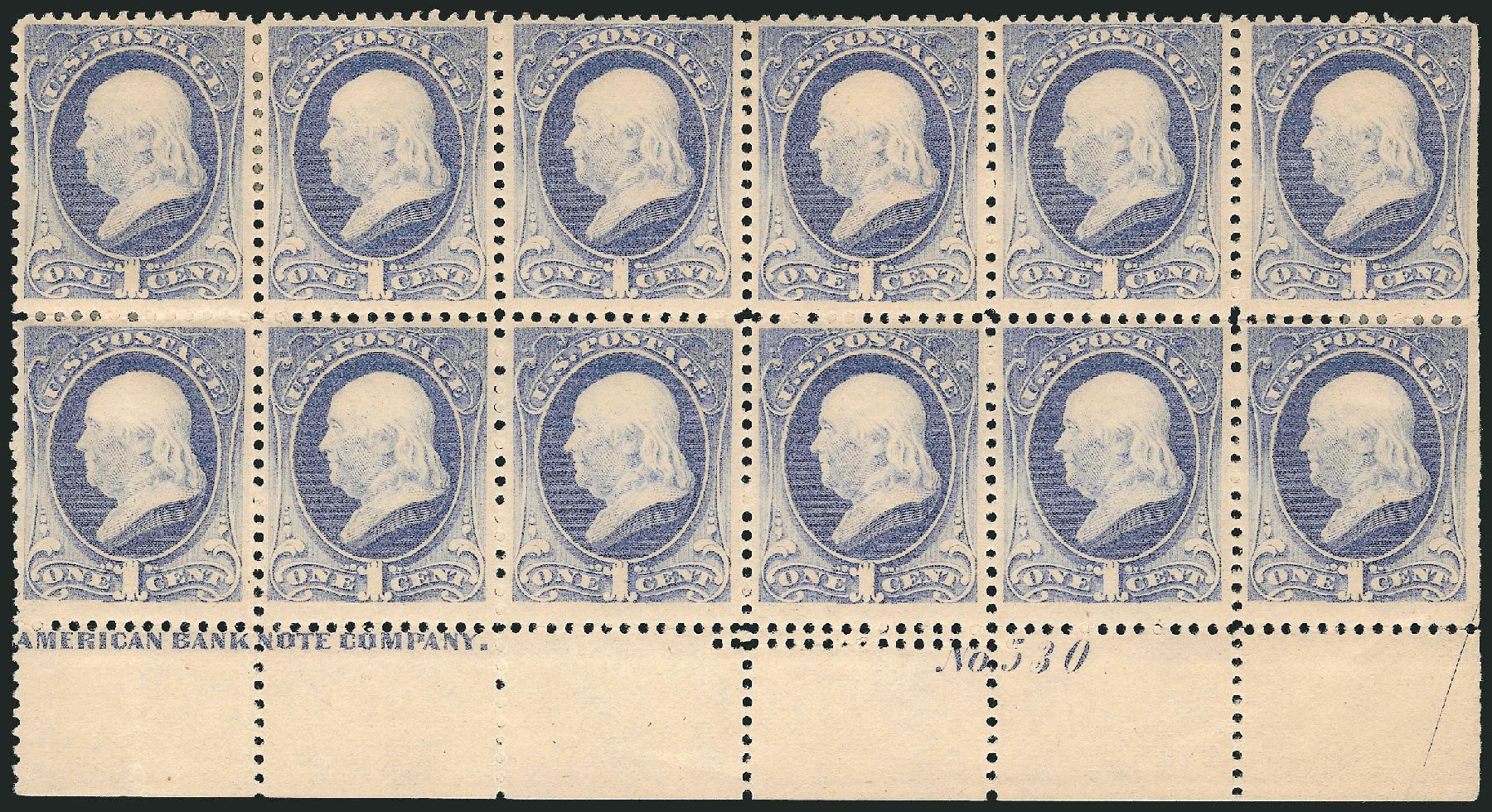 US Stamps Value Scott Catalogue #206 - 1c 1882 Franklin. Robert Siegel Auction Galleries, Apr 2015, Sale 1096, Lot 361