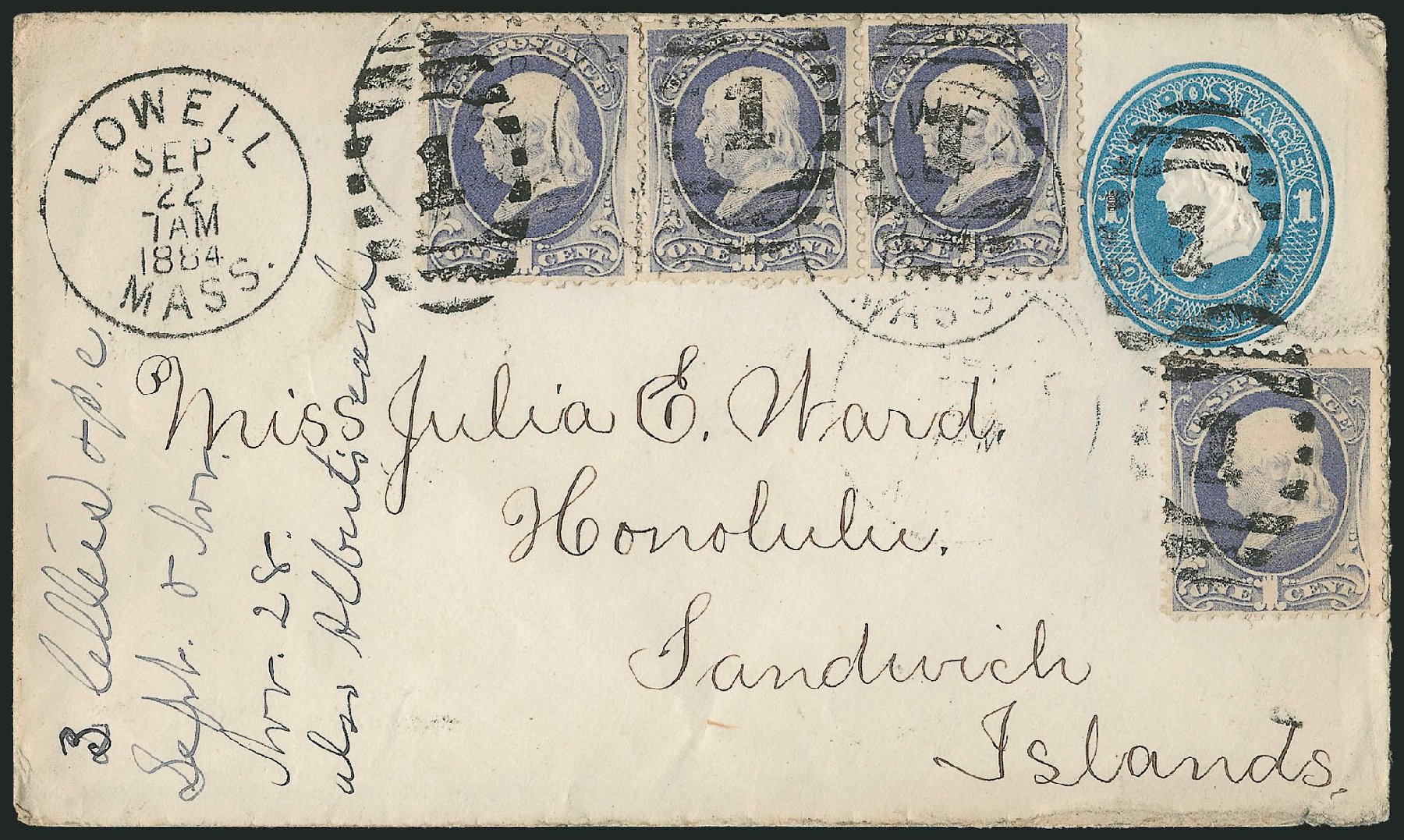 Prices of US Stamp Scott Cat. 206: 1882 1c Franklin. Robert Siegel Auction Galleries, Jun 2015, Sale 1105, Lot 2622