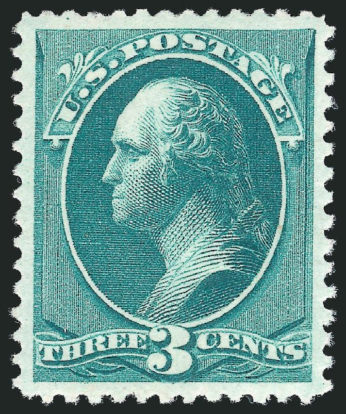 Cost of US Stamps Scott Cat. 207 - 1882 3c Washington. Robert Siegel Auction Galleries, Nov 2013, Sale 1057, Lot 794