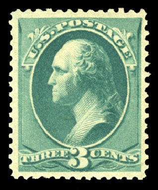 Price of US Stamps Scott Catalog 207 - 1882 3c Washington. Cherrystone Auctions, Jul 2013, Sale 201307, Lot 55