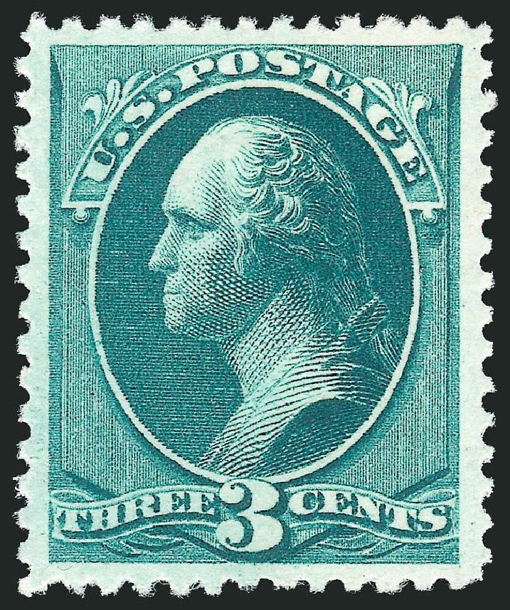 Prices of US Stamps Scott Cat. 207 - 3c 1882 Washington. Robert Siegel Auction Galleries, Jul 2013, Sale 1050, Lot 315