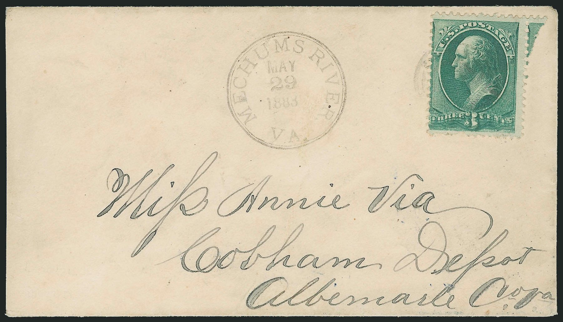US Stamp Prices Scott Catalog 207 - 3c 1882 Washington. Robert Siegel Auction Galleries, Apr 2014, Sale 1068, Lot 152