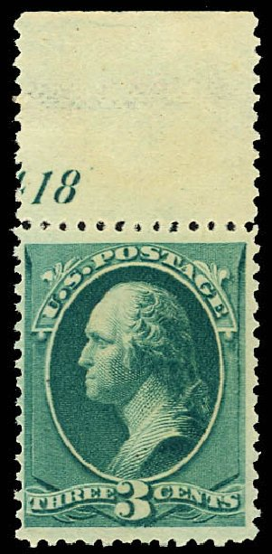 US Stamp Price Scott Cat. # 207: 1882 3c Washington. Daniel Kelleher Auctions, Dec 2012, Sale 633, Lot 433