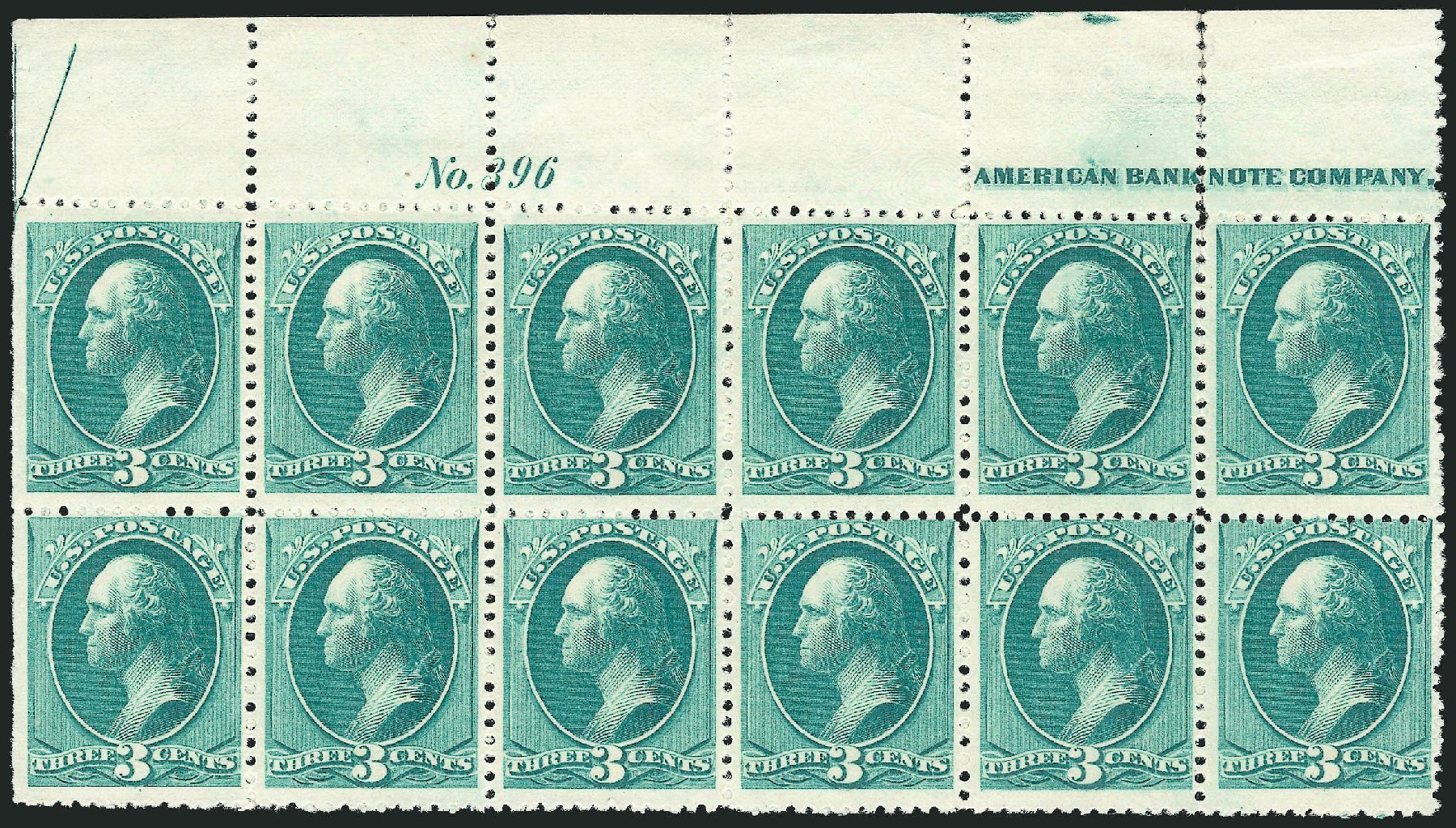 US Stamps Price Scott Catalog 207: 3c 1882 Washington. Robert Siegel Auction Galleries, Nov 2014, Sale 1084, Lot 3466