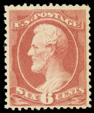 US Stamps Value Scott # 208 - 6c 1882 Lincoln. Daniel Kelleher Auctions, Jan 2015, Sale 663, Lot 1427
