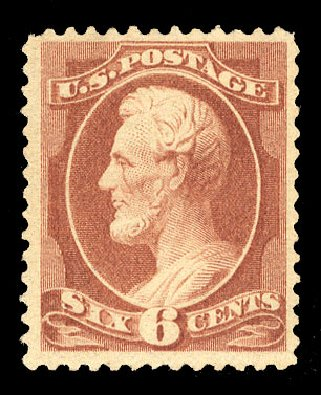 Values of US Stamps Scott 208 - 6c 1882 Lincoln. Cherrystone Auctions, Jul 2015, Sale 201507, Lot 58