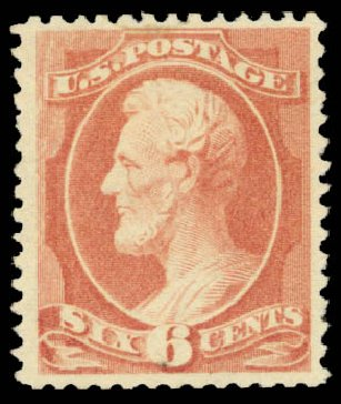 Cost of US Stamps Scott # 208: 6c 1882 Lincoln. Daniel Kelleher Auctions, May 2015, Sale 669, Lot 2678