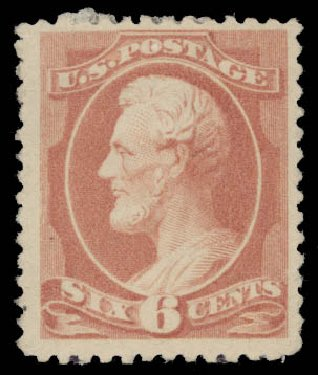 US Stamps Value Scott #208 - 1882 6c Lincoln. Daniel Kelleher Auctions, May 2015, Sale 669, Lot 2679