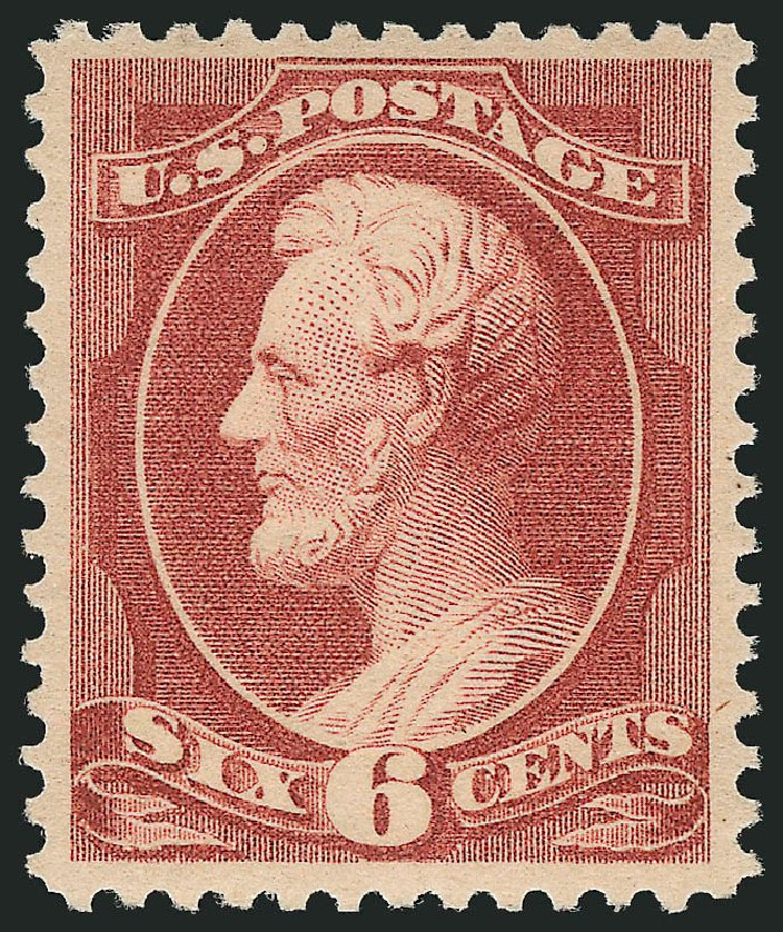 Price of US Stamp Scott Cat. # 208 - 6c 1882 Lincoln. Robert Siegel Auction Galleries, Feb 2015, Sale 1092, Lot 1144