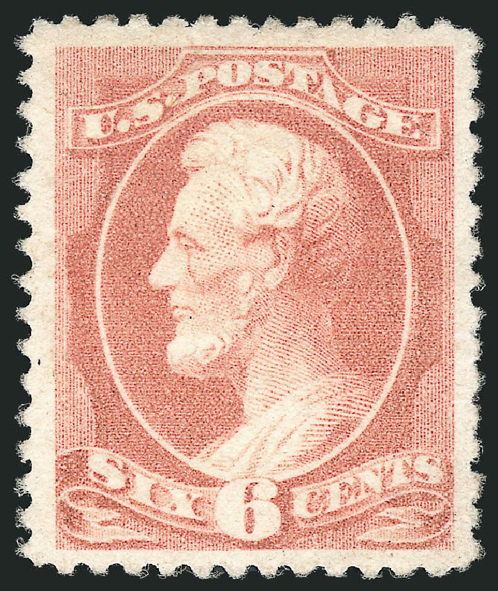 US Stamp Price Scott Cat. 208: 1882 6c Lincoln. Robert Siegel Auction Galleries, Apr 2015, Sale 1096, Lot 363