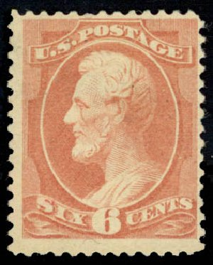 Costs of US Stamp Scott 208 - 6c 1882 Lincoln. Daniel Kelleher Auctions, Jan 2015, Sale 663, Lot 1426