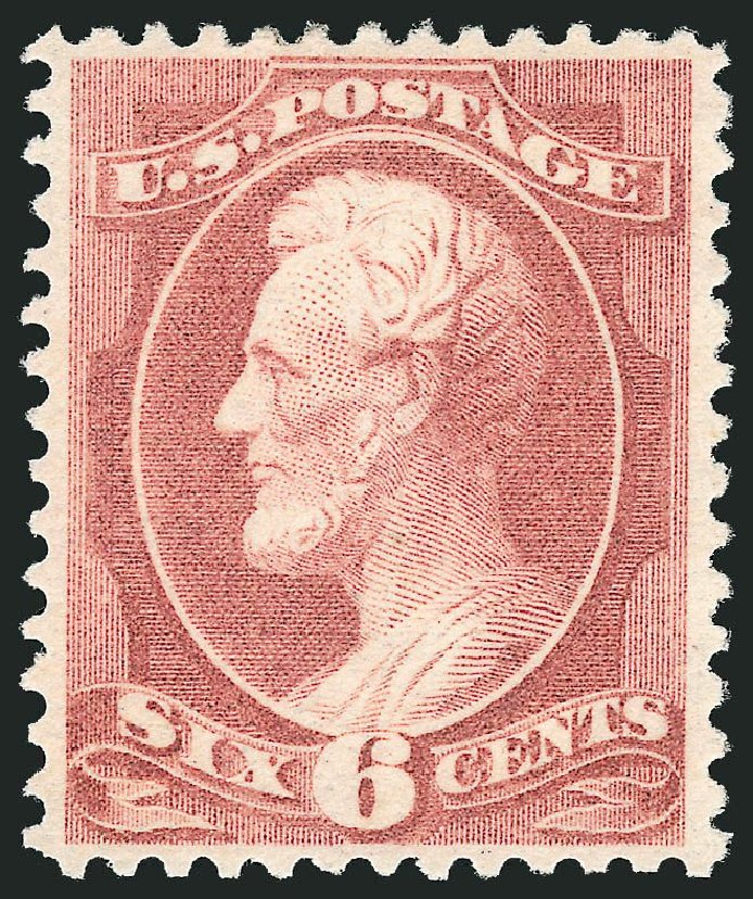 Price of US Stamps Scott Catalogue # 208: 1882 6c Lincoln. Robert Siegel Auction Galleries, Dec 2014, Sale 1090, Lot 1356