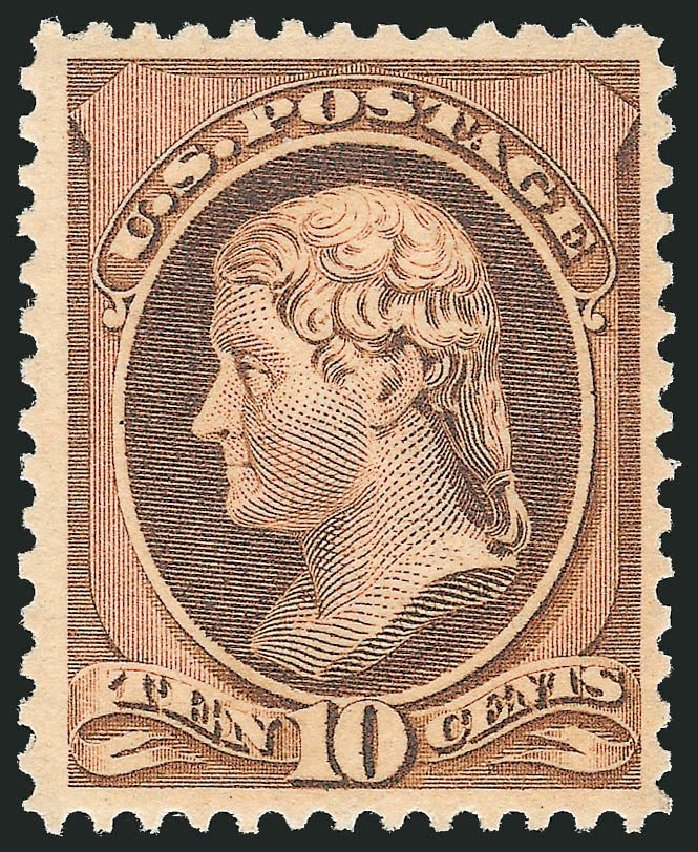 Prices of US Stamps Scott Catalog 209 - 10c 1882 Thomas Jefferson. Robert Siegel Auction Galleries, Dec 2014, Sale 1090, Lot 1358