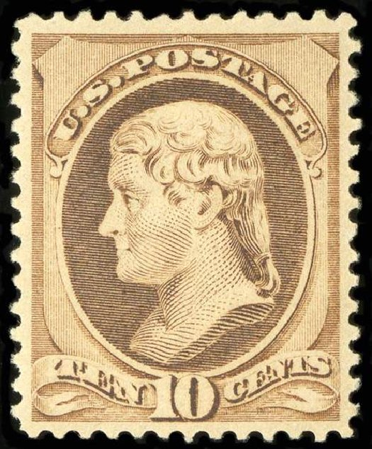 Prices of US Stamps Scott Catalogue 209 - 10c 1882 Thomas Jefferson. Spink Shreves Galleries, Jul 2015, Sale 151, Lot 170