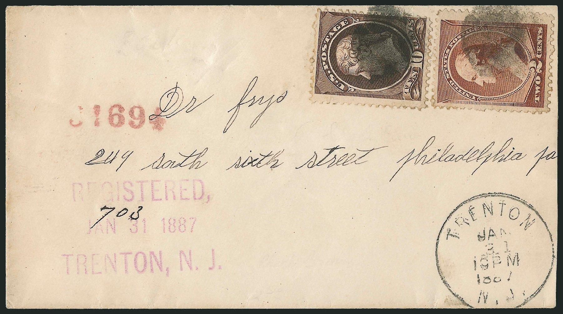 US Stamps Value Scott 209 - 1882 10c Thomas Jefferson. Robert Siegel Auction Galleries, Dec 2014, Sale 1090, Lot 1361