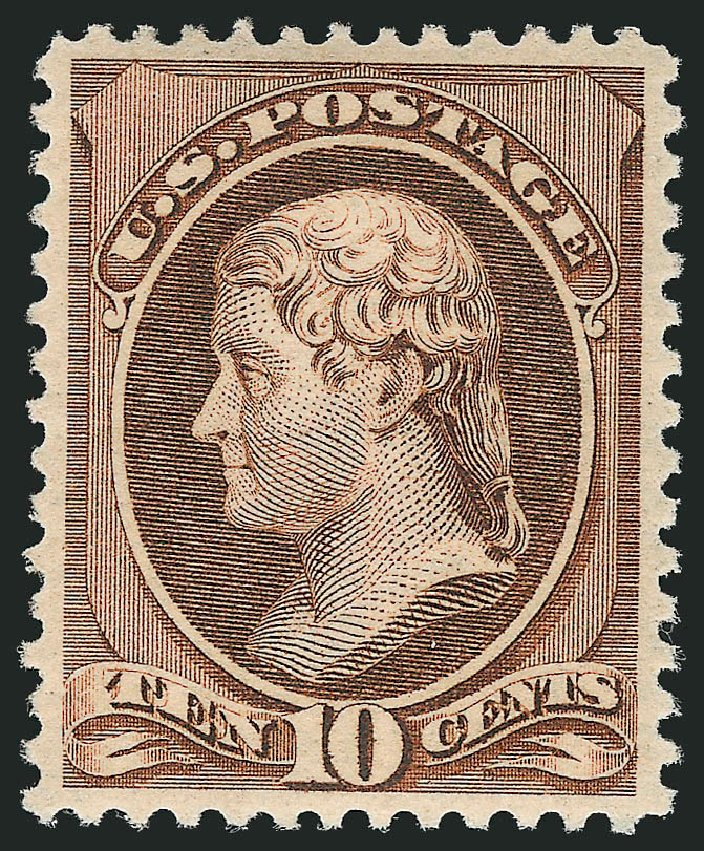 Value of US Stamps Scott Catalogue # 209: 1882 10c Thomas Jefferson. Robert Siegel Auction Galleries, Feb 2015, Sale 1092, Lot 1145