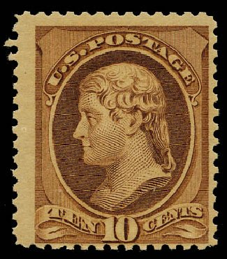 Price of US Stamp Scott Catalogue #209 - 10c 1882 Thomas Jefferson. Daniel Kelleher Auctions, May 2015, Sale 669, Lot 2682