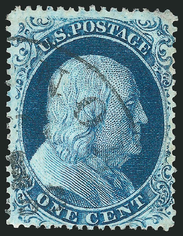 US Stamp Value Scott # 21: 1857 1c Franklin. Robert Siegel Auction Galleries, Apr 2015, Sale 1096, Lot 48