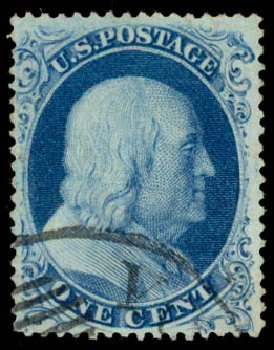 Price of US Stamp Scott Cat. # 21 - 1c 1857 Franklin. Daniel Kelleher Auctions, May 2015, Sale 669, Lot 2429