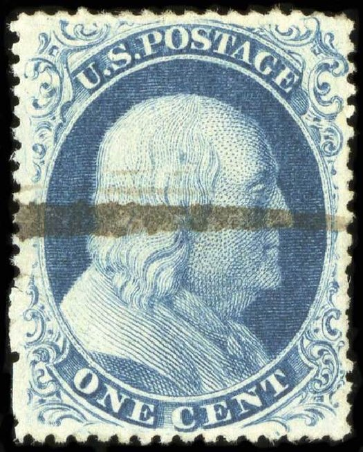 US Stamps Prices Scott Catalogue # 21: 1857 1c Franklin. Spink Shreves Galleries, Jul 2015, Sale 151, Lot 40